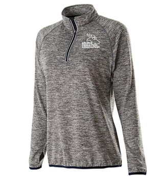 Ladies grey heather performance top
