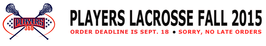 Players Lacrosse Fall 2015 store