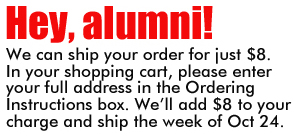 alumni shipping announcement