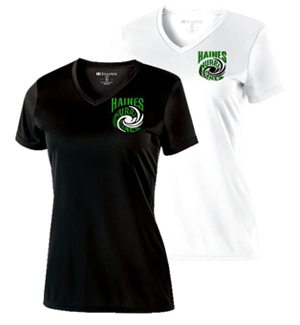 ladies performance vee tee