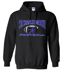North Star Football 2016 Cotton Blend Hoodie with Screen Print art