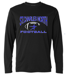 North Star Football 2016 Cotton Blend Long Sleeve Tee with Screen Print art