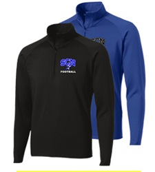 North Star Football 2016 Embroidered Performance Zip Tops in Black or Royal