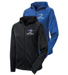 North Star Football Ladies Embroidered Performance Jacket in Royal or Black