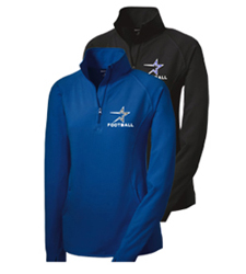 North Star Football 2016 Ladies Embroidered Performance Zip Top in Royal or Black