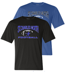 North Star Football 2016 Performance Black or Royal Short Sleeve Tee with Screen Print art