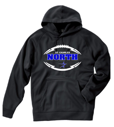 North Star Football 2016 Performance Hoodie with Screen Print art and Option to add Name and or Number