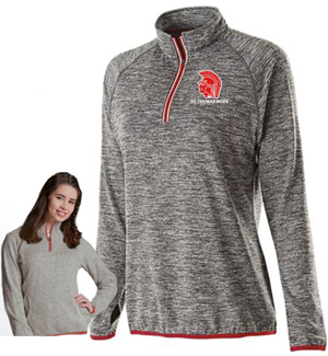 Ladies grey performance top