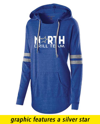 Ladies heather hoodie