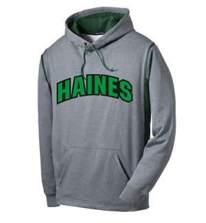 Hoodie with tackle twill