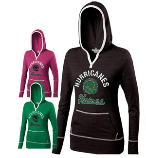 Haines Ladies Hooded Tee
