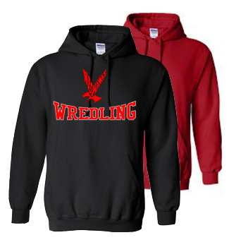 Black and Red Cotton Blend Hoodie