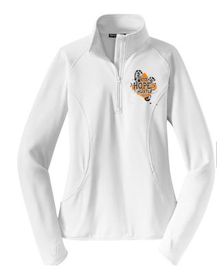 ladies quarter zip top