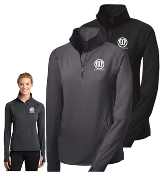Ladies performance zip top