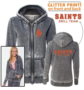 Ladies glitter hooded jacket