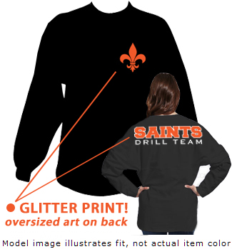 Ladies gliitter spirit jersey