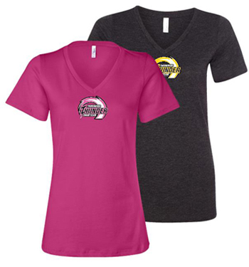 Ladies Fit Vee Neck tee