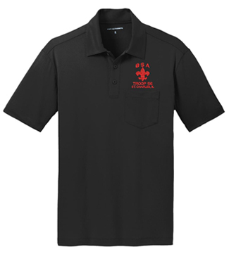 adult performance polo with pocket